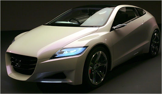 This production of almost the Honda CR-Z hybrid concept was unveiled